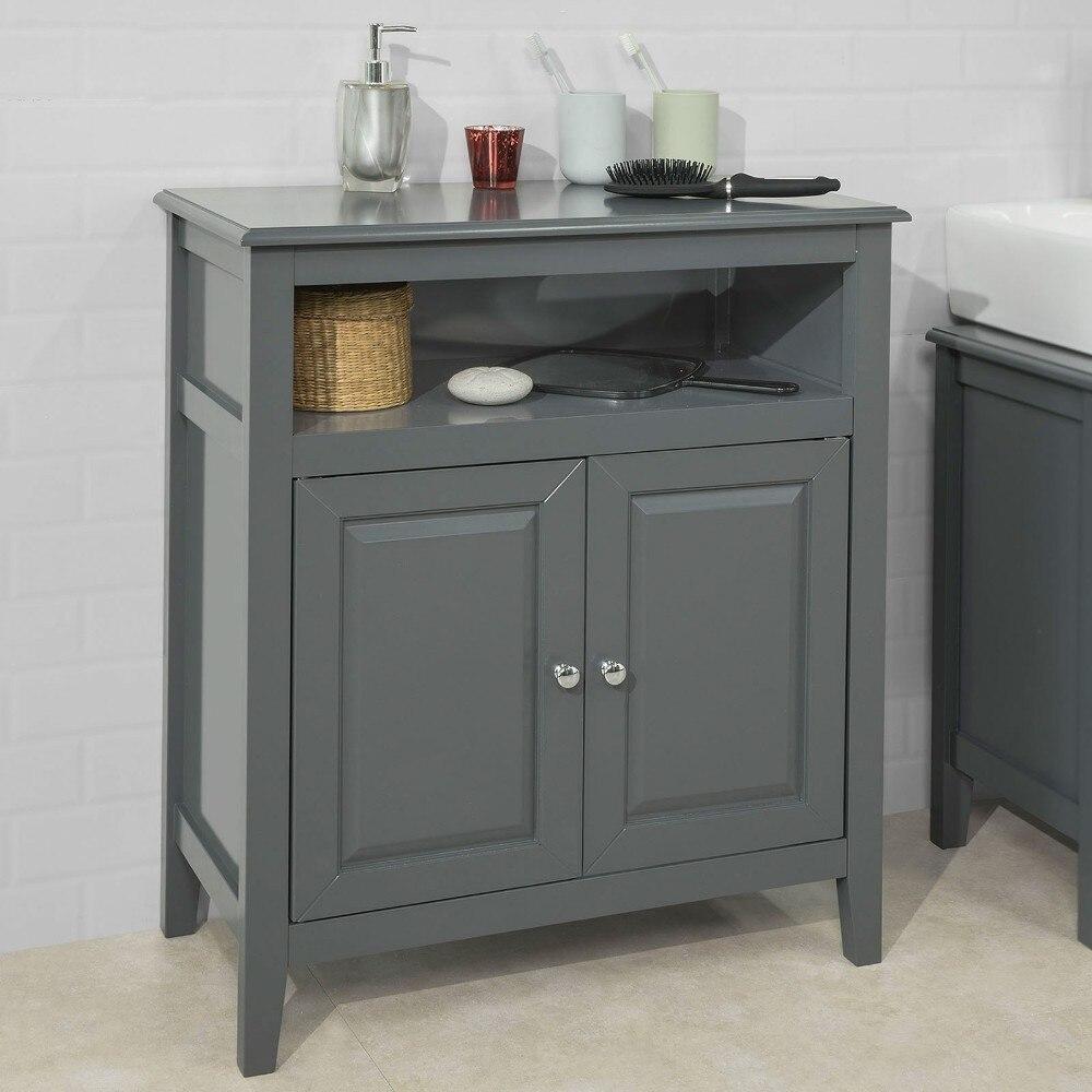 Sobuy Frg204 Dg Grey Bathroom Storage Cabinet Storage Cupboard