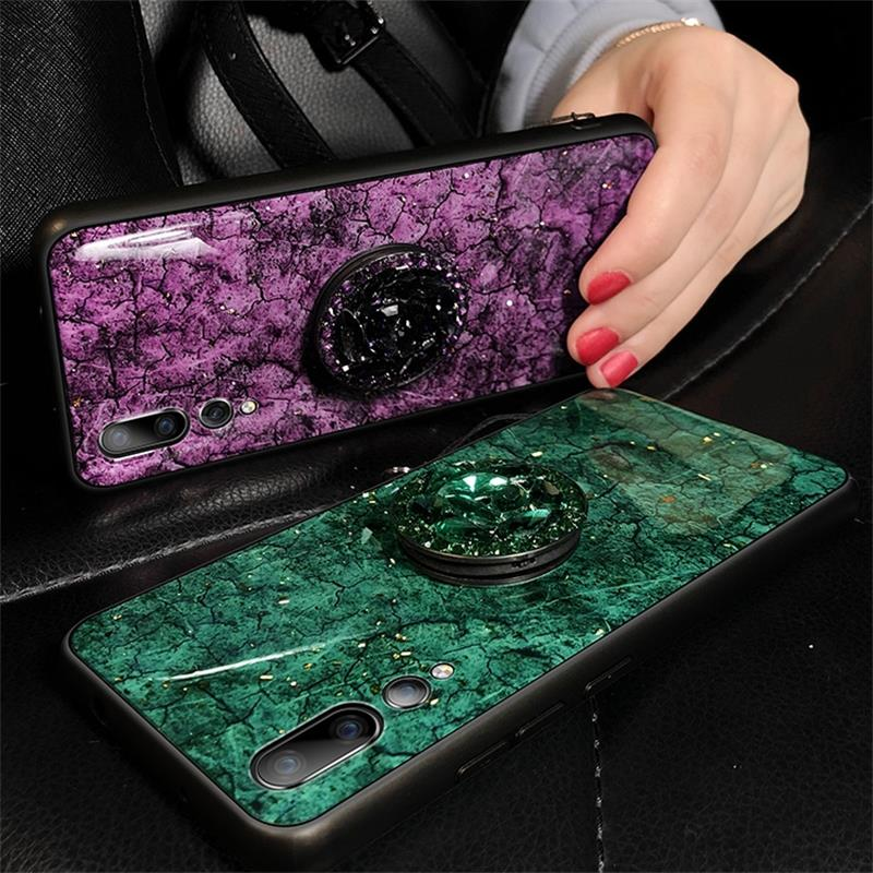 Fashion Marble <font><b>Glitter</b></font> Silicone <font><b>Case</b></font> For Honor 10 Lite 8A Pro 8C 8X 8S 10i Play Cover For <font><b>Huawei</b></font> <font><b>Y5</b></font> Y6 Y7 Y9 <font><b>2019</b></font> P Smart Z Plus image