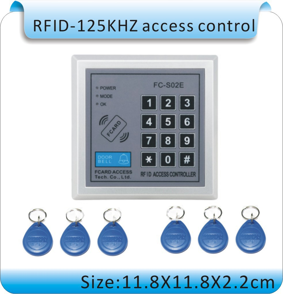 ФОТО high-quality access control systems / password + ID card / controller +power supply+electric lock + switch + doorbell +50 cards