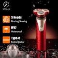 Maquinilla de afeitar eléctrica SOOCAS S3 3 cortadores cabeza seca afeitada húmeda inalámbrico USB recargable a prueba de agua maquinilla de afeitar Xiaomi Mijia para hombres recortadora