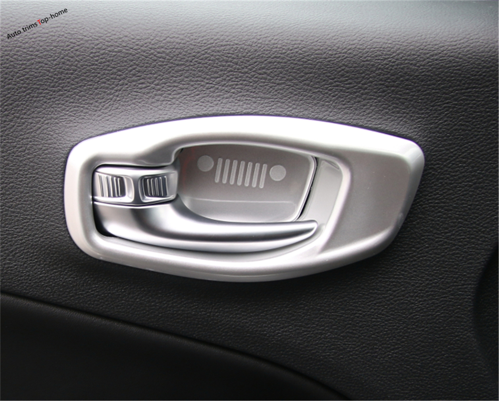 3 Color For Jeep Compass 2017 2018 ABS Inner Door Handle Bowl Decoration Cover Trim 8 Pcs / Molding Garnish