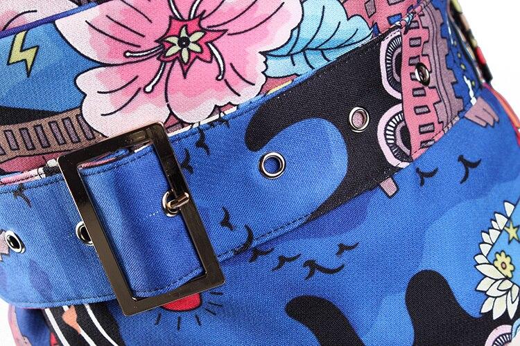 102288491a4 2018 New Women Gg Belt Bandoleira Cinto Feminino Extra Wide Belt Decorative  Painting Flower Cloth Waist Seal Woman ...