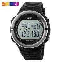 Sport Zegarki Pulsometr Zegarek Mężczyźni Kobiety Zegar Cyfrowy LED Zegarek Krokomierz Licznik Kroków Kalorie 50 M Wodoodporne Zegarki