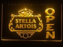 040-sinal de luz de néon conduzido da barra aberta da cerveja de stella artois