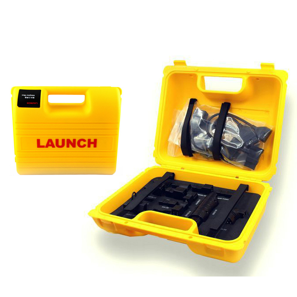 TLXC Launch X431 Diagun IV Diagun III 3 Yellow Box Launch X431 iDiag Connector Set Package for X431 V/PRO/5C/V+ Full Set Cables