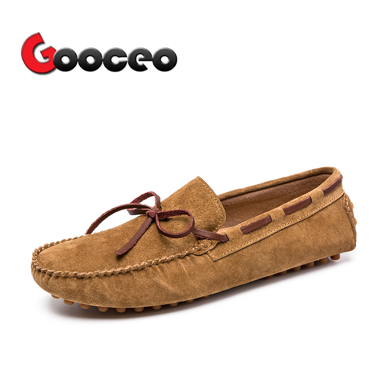 Men's Loafers Moccasins Flats Driving Doug Shoes Boat Slip-On For Men Spring Suede Leather Casual Flat Nubuck Handmade Leisure 5