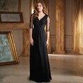 2016 Longa Vintage A Linha Chiffon Vestido de Festa de Casamento Chiffon Beading Plissado Mãe Vestidos Sexy Mãe Dos Vestidos de Noiva