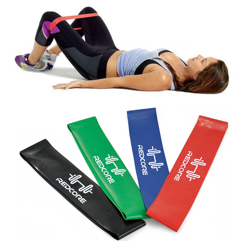 Bodybuilding 4 Levels Pilates Yoga Rubber Resistance Bands Fitness LOOP Rope Stretch Band Crossfit Elastic Resistance Band