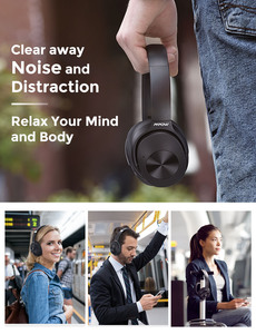 Image 3 - Mpow H12 היברידי פעיל רעש ביטול אוזניות 30 H זמן משחק 40mm נהג אלחוטי Wired 2 ב 1 עבור נסיעות עבודה