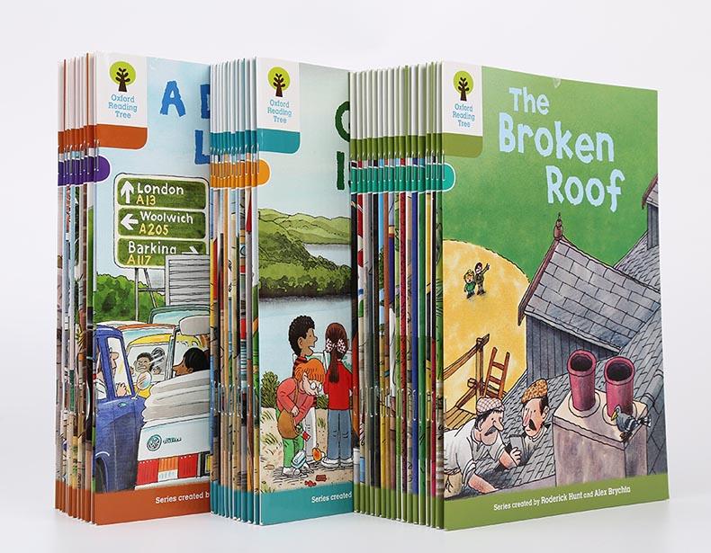 1 ensemble 40 livres 7-9 niveau Oxford lecture arbre plus riche lecture apprentissage lecture phonique anglais histoire livre photo ensemble jouets éducatifs