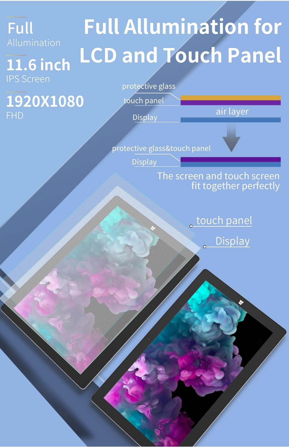 2 in 1 Tablet PC Jumper EZpad Go 11.6 inch IPS Display windows tablet (2)