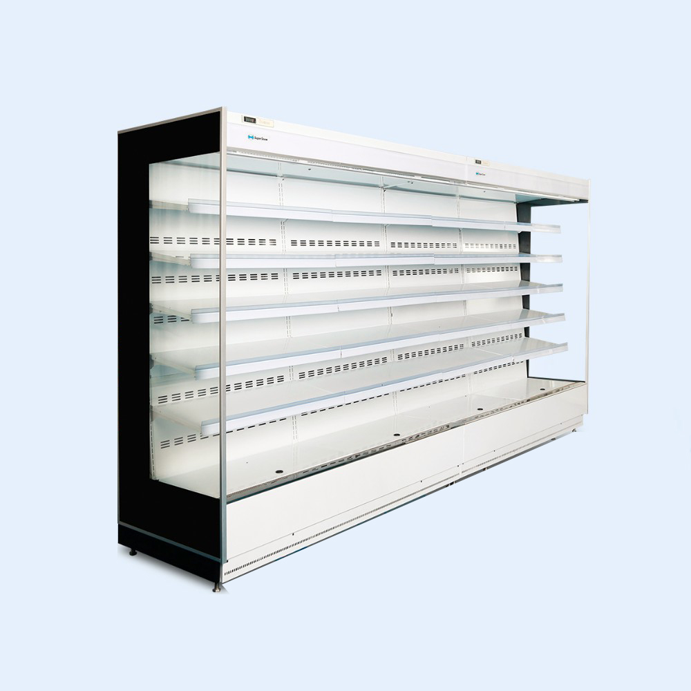 Commercial Refrigeration Front Open Display Fridger Supermarket Freezer  Retailing Refrigerated Display Cases