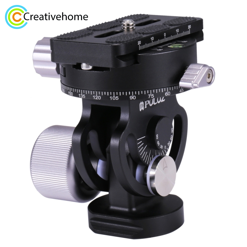 PULUZ DSLR Panoramic Head 1 4 3 8 Screw 2 Way Pan Tilt Tripod Head