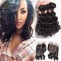 Mongolian Bob Bundles Hair Extensions Weave Bob 3Bundles With Closure Star Style Hair Full Lace Human Hair Wig Grey Hair Closure