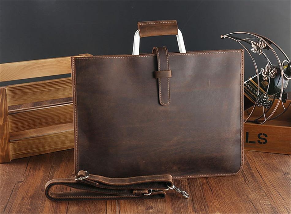 HTB1QMhokYuWBuNjSszgq6z8jVXaE Joyir 2019 Crazy horse leather briefcase for man coffee color vintage men genuine leather messenger bag business bags male