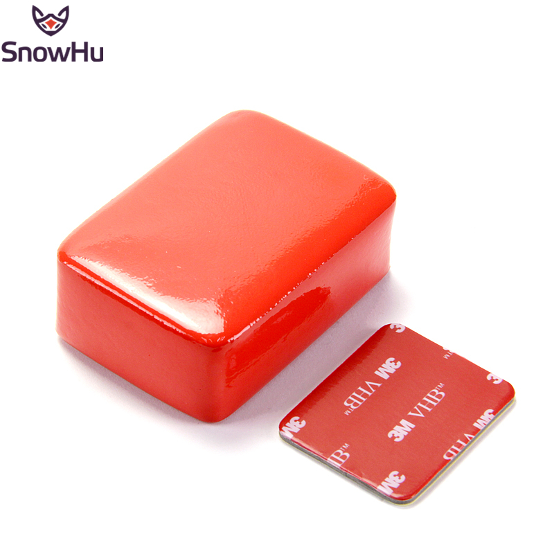 SnowHu For Gopro Float Floaty Box With 3M Adhesive Anti Sink Sticker Float Block Buoy Sponge For Gopro Hero 8 7 6 5  For Yi GP46