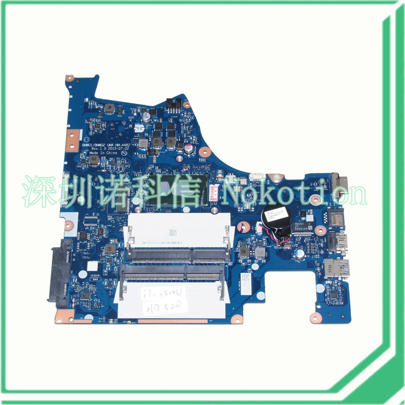 все цены на NOKOTION BMWQ1 BMWQ2 UMA NM-A482 Rev 1.0 2015-07-22 for lenovo laptop motherboard core i7-6500U CPU+HD 520 DDR3L онлайн