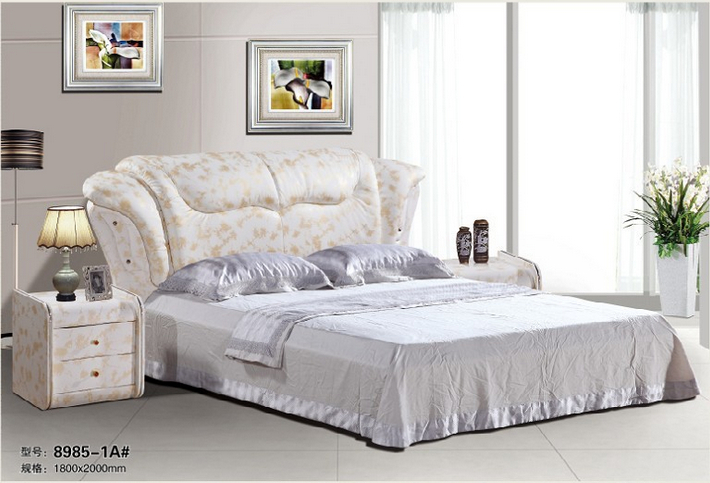 High quality factory price royal large king size leather soft bed bedroom furniture soft bed 3475 матрас dreamline king tradition soft 150х195 см