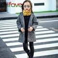 Chifave 2016 Nueva Moda Otoño Invierno Niños Niñas Ropa de Abrigo Niños Sólido de Un Solo Pecho Chaqueta de Abrigo Niños Outwear Unisex