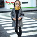 chifave 2016 New Fashion Autumn Winter Boys Girls Coat Children Clothing Single Breasted Solid Warm Jackets Kids Unisex Outwear