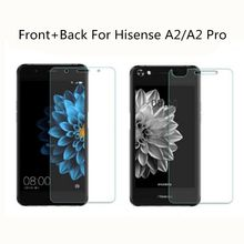 Front and Back Tempered Glass Original 9H Explosion-proof Protective Film Screen Protector mobile phone For Hisense A2 / A2 Pro(China)