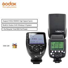 Godox Flash Speedlite v860ii-s Li-na Bateria têm tomada de Sincronização com PC com Gatilhos Xpro-s Transmissor Sem Fio Para Câmeras Sony
