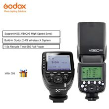 Godox v860ii-s Li-on Battery Camera Flash Speedlite TTL HSS 1/8000s with Xpro-s Wireless Flash Transmitter Trigger For Sony