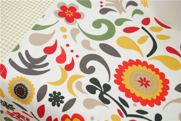 Europe Style Cotton Canvas Printed Flower Table Runner for Home/Hotel Double Sides 30*180cm 30* 210cm Accept Customized