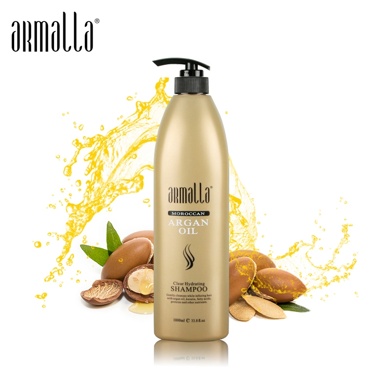 Armalla Moroccan Argan Oil 1000ml Professional Natural Dry Hair Shampoo Treatment Moisturizing Damage Product image