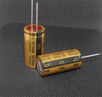 5pcs/10pcs NICHICON audio capacitor 50v 10000uf FW 25*50 audio super capacitor electrolytic capacitors free shipping 2