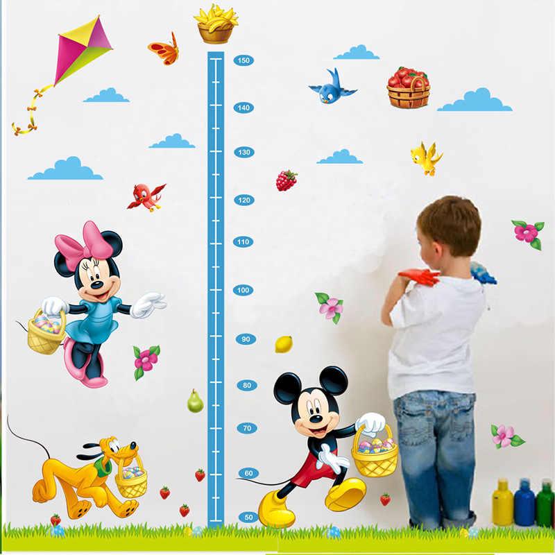 Mới Chuột Mickey Minnie Mouse Dán Tường Phòng Trẻ Mầm Non Trang Trí DIY Có Thể Tháo Rời Giấy Dán Tường Dây Leo Đồ Trang Trí