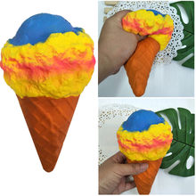 20cm Squishy Ice Cream Cone Cream Cake Super Soft Slow Rising Collection Gift Toy Kids Adult Rebound Decompression Toys 18(China)