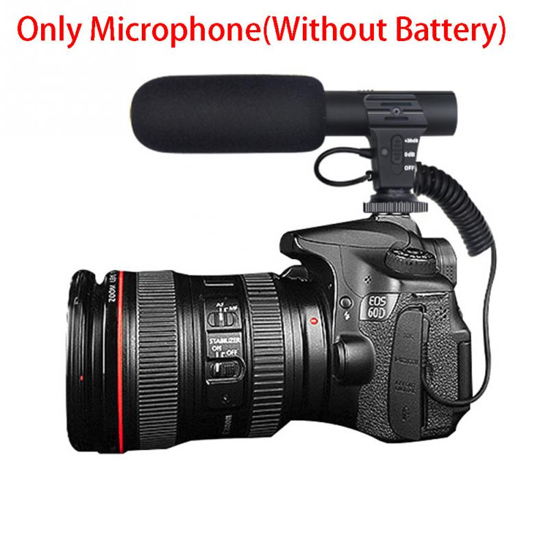 Stereo Camcorder Microphone for Nikon Canon DSLR Camera Computer Digital Video DV Camera Studio Stereo Mic 1102 in Microphones from Consumer Electronics
