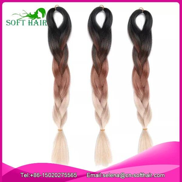 Free Shipping Kanekalon Bulk Hair For Braiding Box Braids Hair Black