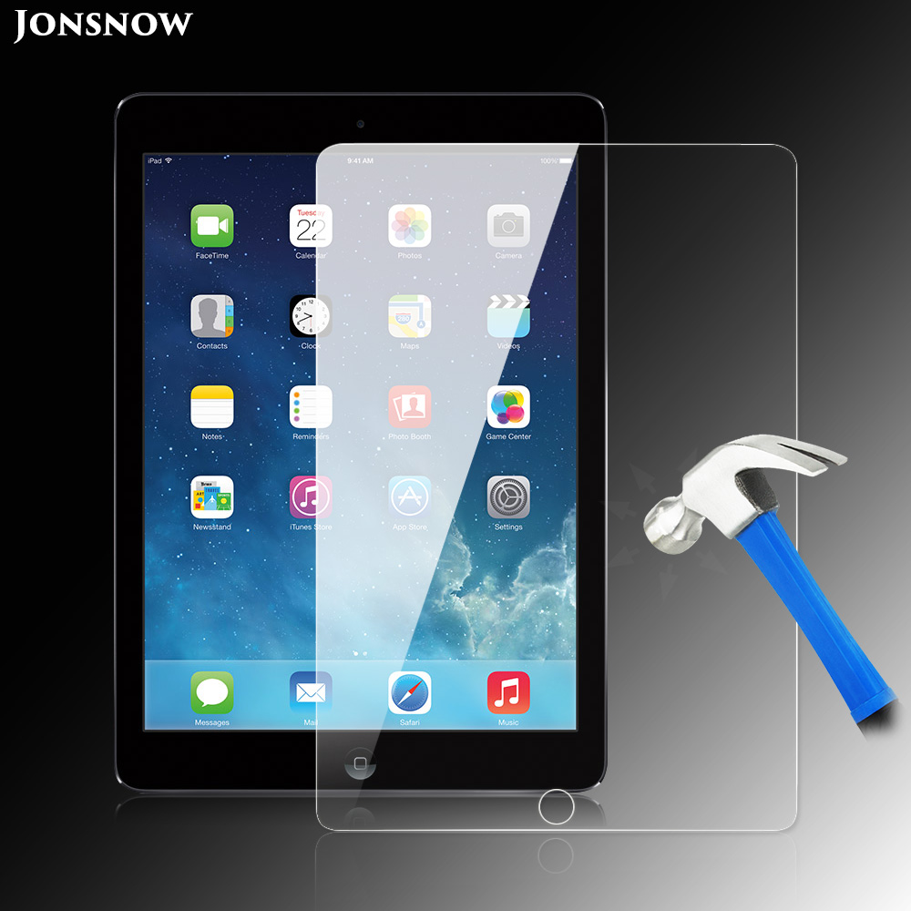 JONSNOW Tempered Glass for iPad Air iPad Air 2 Screen Protector High Clear Explosion-Proof LCD Front 97 inch 9H Film