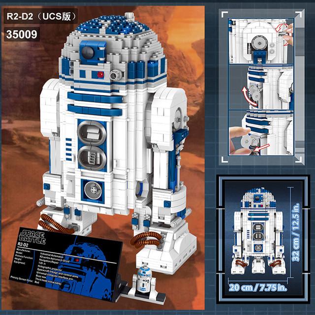 2137pcs Large Star Wars Building Block Sets The Force Awakens Robot R2-D2 Compatible Space Battle LegoINGLYS Technic Toy for Kid
