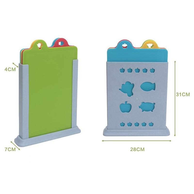 4pcs 유연한 컬러 커팅 보드 매트 세트 프리미엄 플라스틱 도마 보드 주방 용품에 대 한 에코 친화적 인 매트를 청소하기 쉬운-에서초핑 블록부터 홈 & 가든 의  그룹 3