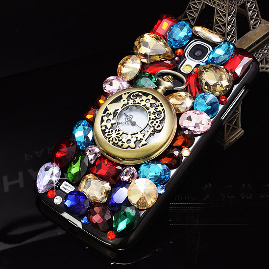 Luxury 3D Watch Bling Diamond Case For Xiaomi Mi Note Redmi Note Xiaomi Mi4 Xiaomi Mi3 Xiaomi Mi5 Redmi 2 Clock Crystal Case