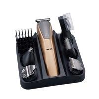 6In1 Grooming Kit Hair Trimmer Electric Hair Clipper For Men Beard Car Trimer Shaving Machine Eyebrow Trim Face Body Groomer E