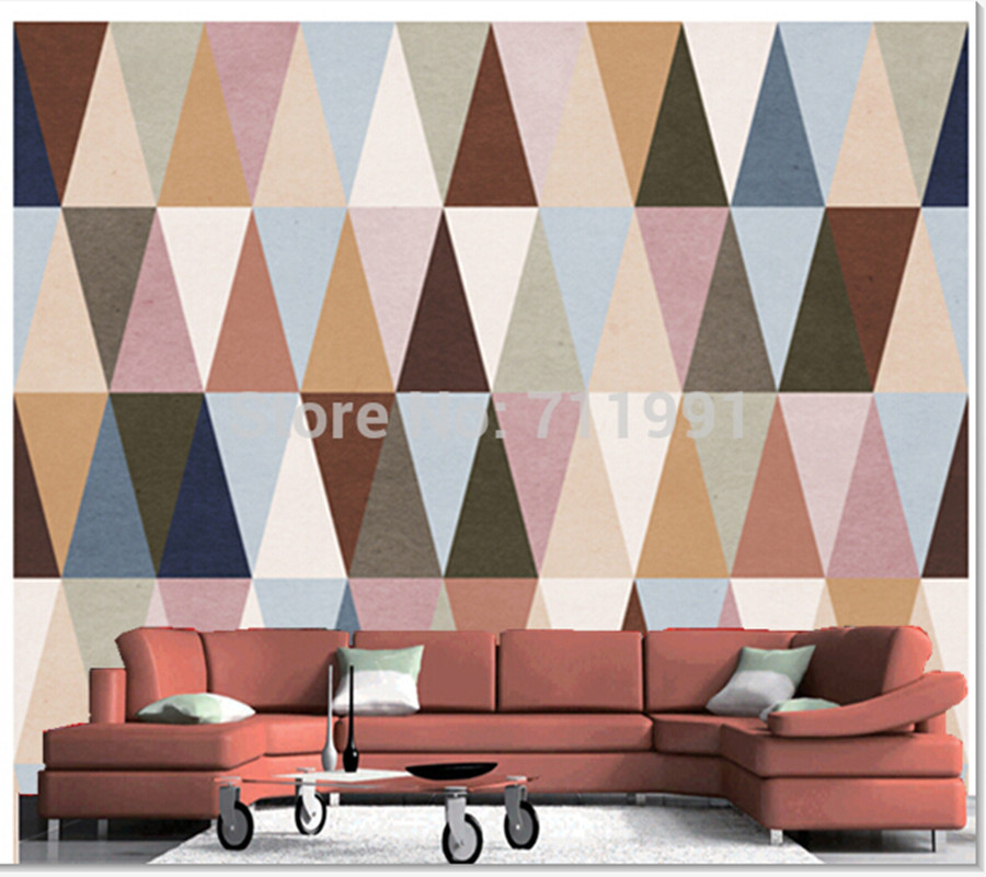 Custom 3D Geometric Pattern Wall Mural Wallpaper for TV mural Bedroom Sofa backdrop wallpaper Decorative papel de parede custom baby wallpaper snow white and the seven dwarfs bedroom for the children s room mural backdrop stereoscopic 3d