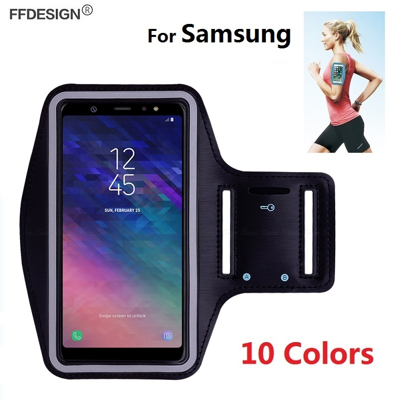 8411bc987 Arm band Running Sports Bracelet for Samsung Galaxy J8 J6 J4 Plus 2018 A7  A6 A8 Plus