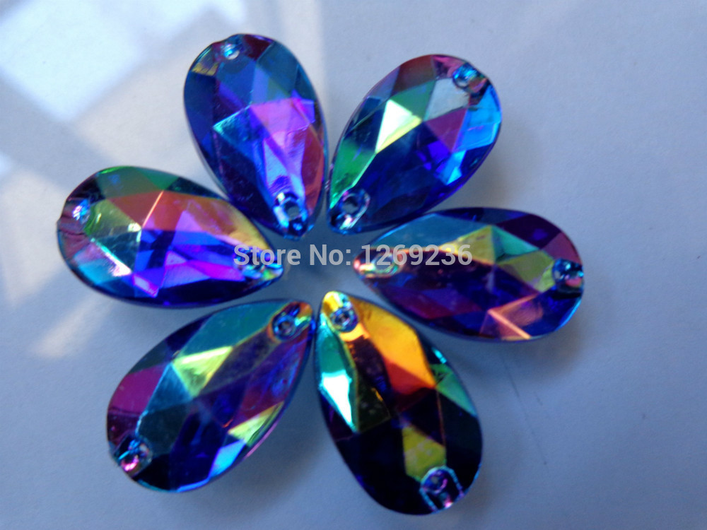 Sew on Loose Beads Crystals Dark Blue AB colour Rhinestones Accessories For  Hand Sewing Stones 150pcs 11 18 drop m50 c5666435434f
