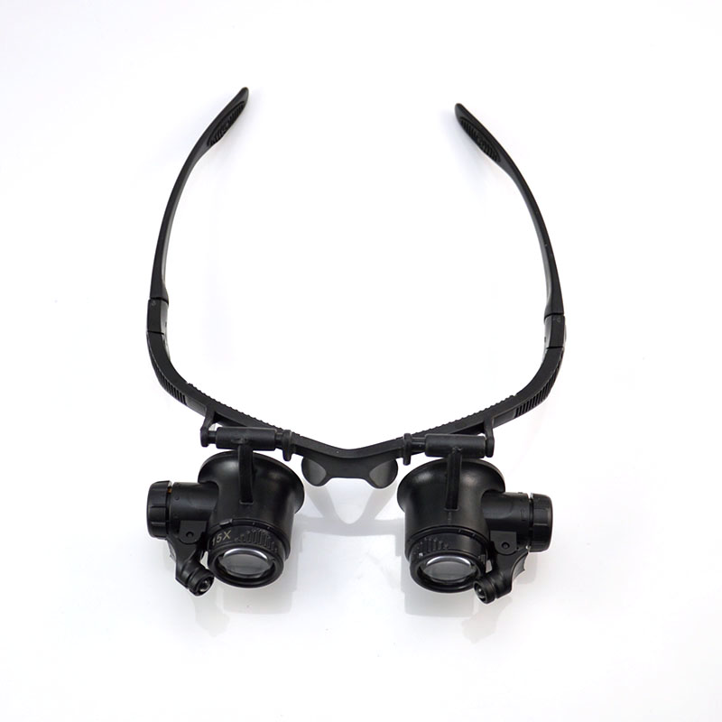 10X 15X 20X 25X LED Double Eye Glasses Headset Jeweler Watching Repairing Magnifier Glasses Loupe 10x 15x 20x 25x led eye jeweler watch repair magnifying glasses magnifier loupe 9892g