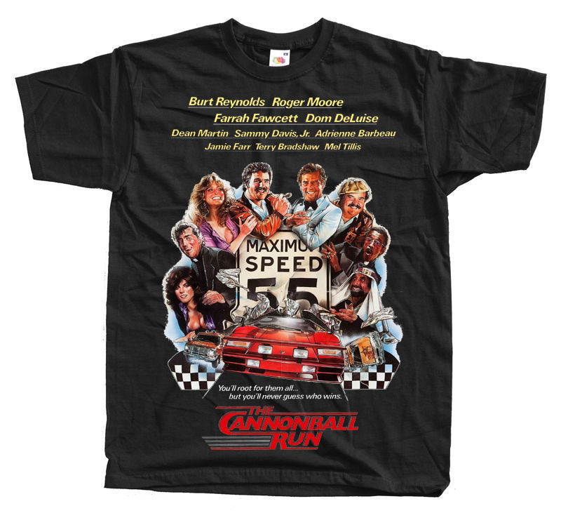 Cannonball Race Movie T Shirt Black S 5Xl Burt Reynolds ...