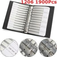 New Arrival 1206 SMD SMT Chip Capacitors Sample Book 38ValuesX50Pcs Total 1900pcs 10PF 22UF Capacitor Assorted