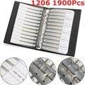 Nuovo Arrivo 1206 SMD SMT Chip Condensatori Campione Libro 38ValuesX50Pcs Totale 1900 pz 10PF ~ 22 uf Condensatore Kit Assortiti