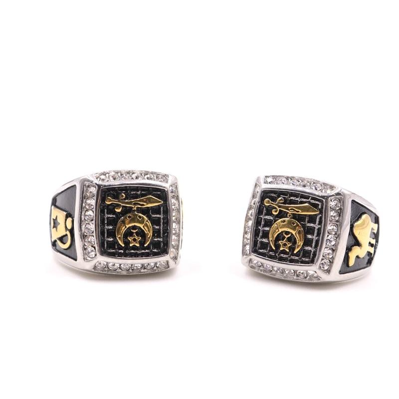 Silver Color Black Enamel Rings Men Vintage Ring Punk Classic Black