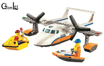 10751 City Coast Guard Sea Rescue Plane building blocks DIY Educational bricks toy gift for children Compatible with 60164