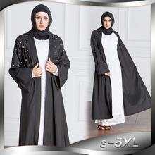 Baru Pakistan Timur Tengah Saudi Muslim gaun 2018 Fashion Plus Ukuran  perempuan manik-manik kardigan Mutiara Jubah Panjang Gaun . a4289bad6478