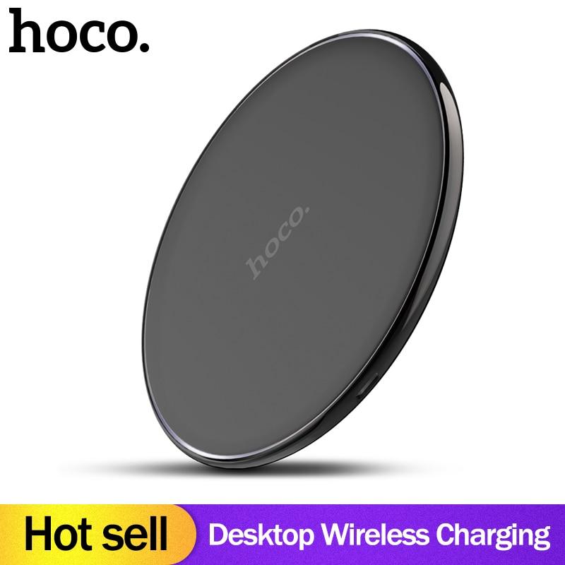 HOCO original Qi Wireless Charger Desktop Wireless Charging Pad For iPhone XR Xs Max X 8  for Samsung Galaxy S9 S8 xiaomi mix2sHOCO original Qi Wireless Charger Desktop Wireless Charging Pad For iPhone XR Xs Max X 8  for Samsung Galaxy S9 S8 xiaomi mix2s